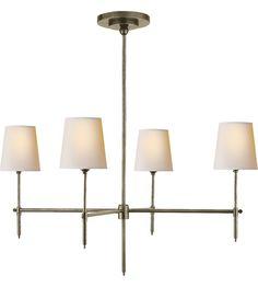 Visual Comfort Thomas OBrien Bryant 4 Light Chandelier in Antique Nickel TOB5003AN-NP #lightingnewyork #lny #lighting