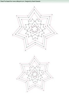 Funky Star Stitching Pattern on Craftsuprint designed by Sarah Edwards - Funky Star Stitching Pattern - Now available for download!