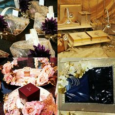 Wedding #trousseau packing for elegant Gifting to your family and friends. Packing ideas for gifting jewellery, clothing, cosmetics, wine and champagne. #InspiredWeddingDecor