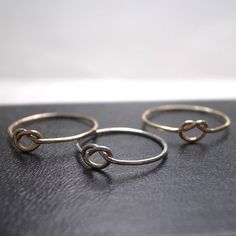 Love knot ring  14k rose gold filled by maryscabinet on Etsy, $19.00