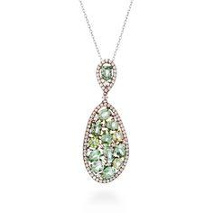Gayarh pendant Andalucite Zircon #LuxenterJoyas #LuxenterSilver