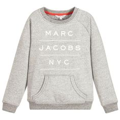 Marc Jacobs Boys Grey Logo Sweatshirt (Unisex) | New Collection