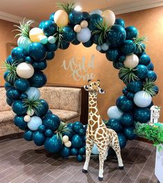 Dinosaur Birthday Party Ideas For 3 Year Old - melissa Balloon Backdrop, Balloon Decorations Party, Balloon Garland, Birthday Party Decorations, Baby Shower Decorations, Party Themes, Party Ideas, Jungle Theme Birthday, 1st Birthday Parties