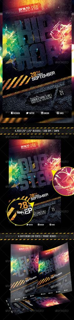 Rave Summer Party Flyer Template - http://www.ffflyer.com/rave ...