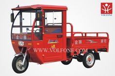 2016 Three wheel motor tricycle with open cargo and closed cab for sale