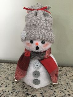 Image result for snowman made from socks