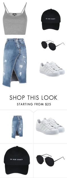 """team iggy"" by mercelago on Polyvore featuring moda, Ermanno Scervino, adidas Originals i Topshop"