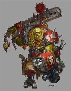 fanart for orks Warhammer 40k Rpg, Orks 40k, Warhammer Models, Warhammer 40k Miniatures, Character Art, Character Design, Game Workshop, Fantasy Rpg, Geek Art