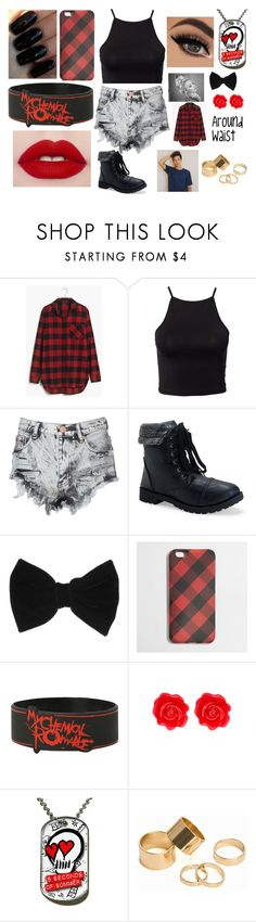 """""""Day 7: At an 5SOS Concert With Cam"""" by magcon-and-o2l-bish ❤ liked on Polyvore featuring Madewell, NLY Trend, Glamorous, Aéropostale, claire's, J.Crew, Fornash, Floss Gloss and Pieces"""