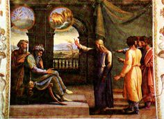 """Joseph said to Pharaoh: """"Both of Pharaoh's dreams have the same meaning. God has thus foretold to Pharaoh what he is about to do. The seven healthy cows are seven years, and the seven healthy ears are seven years--the same in each dream. So also, the seven thin, ugly cows that came up after them are seven years, as are the seven thin, wind-blasted ears; they are seven years of famine. It is just as I told Pharaoh: God has revealed to Pharaoh what he is about to do. Seven years of great…"""