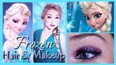 ❄ Disney's FROZEN Makeup and Hair ❄ | Elsa Inspired