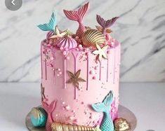 Mermaid Birthday Cakes, Cute Birthday Cakes, Beautiful Birthday Cakes, Mermaid Cakes, Beautiful Cakes, Girl Birthday, Birthday Cakes Girls Kids, Cakes For Kids, Birthday Star