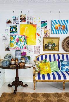 26 Round Floor Pillow Kess InHouse Cyndi Steen Ivy Cottage Again Gray Purple