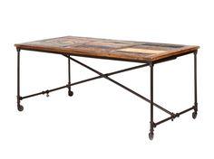 MOCCA Bord 180 Natur/Metall i gruppen Inomhus / Bord / Matbord hos Furniturebox (100-52-84744)