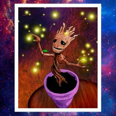 Dancing Baby Groot https://www.etsy.com/listing/204623770/guardians-of-the-galaxy-dancing-baby