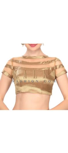 buy this Chic gold diana blouse only on Kalki