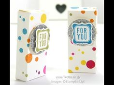 Smarties Treat Boxes for Frenchie using Perpetual Birthday Calendar | Stampin' Up! UK #1 Demonstrator Sam Donald