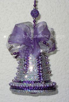 Fensterschmuck Deko-Artikel Wohnaccessoires | Weihnachtsschmuck Glocke silber/lilahttp://sunshine-design.neueshop.com/?page=details=2061365