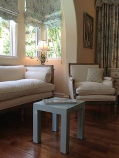 Cathleen's design in Naples, Florida. White on white with a touch of blue.