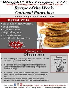 It's #TastyTuesday! This week's recipe is Oatmeal Pancakes! Apple or Maple flavored, these are sure to satisfy! Did I mention these pancakes are #GlutenFree? If you liked this recipe, be sure to share it with your friends!  #CookingHealthy #Oatmealpancakes #Breakfast #Phase1 #IdealProtein #Healthyfood — with Serena Cochran. — Products shown: Maple Oatmeal, Pancake Syrup and Apple Oatmeal
