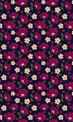 Black and magenta floral pattern Flowery Wallpaper, Flower Phone Wallpaper, Cute Wallpaper Backgrounds, Cellphone Wallpaper, Pretty Wallpapers, Flower Backgrounds, Colorful Wallpaper, Screen Wallpaper, Mobile Wallpaper