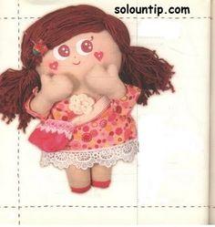 Patrones  para hacer una muñeca de trapo