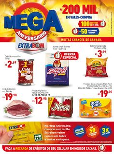 Encartes de Supermercados: Encarte Extrabom - válido até 30/09
