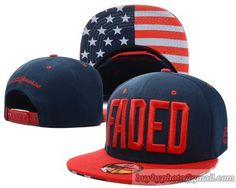 FADED Snapback Navy/Red|only US$8.90,please follow me to pick up couopons.