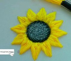 Hand Embroidery Patterns Flowers, Hand Embroidery Videos, Embroidery Stitches Tutorial, Hand Embroidery Designs, Creative Embroidery, Simple Embroidery, Woolen Flower, Crafts, Ribbon Crafts