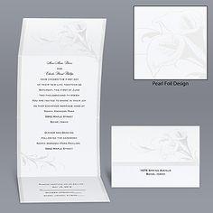 Calla Lily Seal and Send - Invitation: Easy & Cheap! Perfect!!!!!!!!