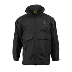 Propper: Defender Gamma Long Rain Jacket with Drop Tail- Our lightweight HALT barrier provides superior windproof, waterproof and breathable performance. This jacket also features our exclusive Peripheral Vision Hood System, a Special Forces inspired, stow-away hood contoured to the face and head for maximum visibility.