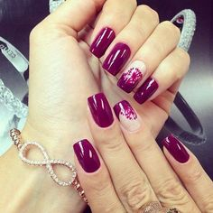 Классический бордовый маникюр (38 фото) - Дизайн ногтей