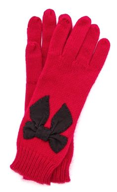 Kate Spade stitched bow gloves  - take 25% off with code FAMILY25 http://rstyle.me/n/rbsiipdpe