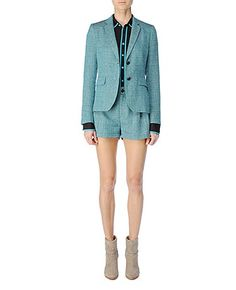 Rag and Bone Outfit (Bailey Jacket, 98 Shirt, Tennis Short) - If I worked in an office, I think I'd wear this every day.