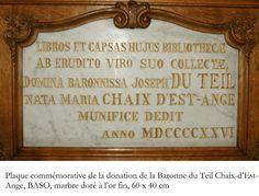 En 1921, suite au décès de son époux le baron Joseph du Teil pendant les combats de la première guerre mondiale, Jeanne Marie Chaix d'Est Ange lègue une importante collection d'œuvres d'art au Musée Sandelin et sa bibliothèque à la ville de Saint-Omer. Peu avant sa mort en 1933, elle prévoit de léguer les archives personnelles de son mari et le reste de sa bibliothèque qui intègrent les collections de la bibliothèque de Saint-Omer la même année.