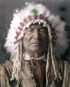 "Sitting Bear KIOWA Warrior Native American Indian 8x10"" Hand Color Tinted Photo | eBay"