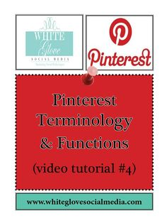 "#4 Pinterest Terminology & Functions (Video Tutorial) « White Glove is here to help you! ""SHARE"" this to help other too!***Learn why Pinterest drives more website referral and sales traffic than any other social media platform. Click here to register for your FREE 15 min #Pinterest #webinar  http://www.whiteglovesocialmedia.com/webinar/#.UVDsy6VI3w5"