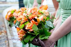 fall wedding flowers orange