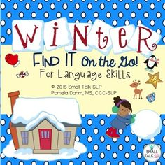 Winter Find It on the Go for Language is a collection of engaging winter-themed search and find picture scenes that were designed to work on almost any language goal.  This flip book is sure to become your go-to activity all season long! Kids love the search-and-find activities and you'll love how easy and flexible it is to use.This engaging book can be used to target over 40* different language goals with a wide variety of ages and skill levels.