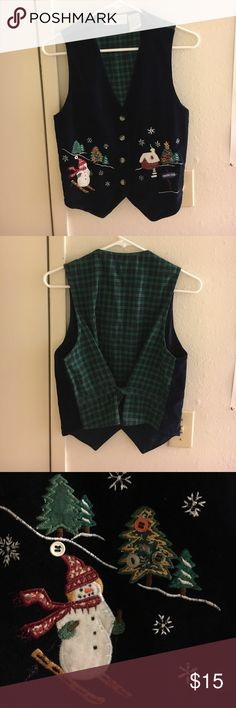 "Christmas Holiday ""Ugly Sweater"" Vest Doesn't only fit petite. Petite Sophisticate Jackets & Coats Vests"