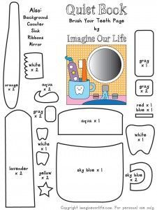 Brush Your Teeth Quiet Book Page--so cute, and good dental hygiene reinforcement.