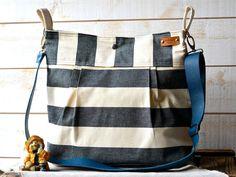 Waterproof Black BEST SELLER Diaper bag/Messenger bag by ikabags, $109.00