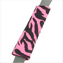 Drive in comfort with Zebra Animal Print pink and black car seat belt shoulder pad. Soft velvet-like seat belt covers in girly designs. Seat Belt Pads, Pink Zebra, Shoulder Pads, Transportation, Car Seats, Girly, Cushions, Velvet, Black