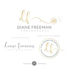 Branding Kit Photography Kit Dandelion logo Flower by GDLogoDesign