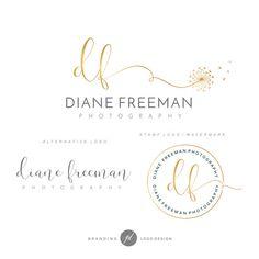 Branding Kit Photography Kit Dandelion logo Flower by GDLogoDesign