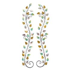 Decmode Traditional Vine-Inspired 58 X 11 Inch Iron Wall Decor - Set of Size: x Silver Iron Wall Decor, Wall Decor Set, Art Deco Diamond, Cool Walls, Wall Spaces, Metal Walls, Antique Jewelry, Jewelry Collection, Vines