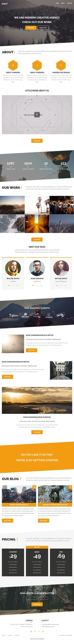 Right - Responsive Mail + Builder/Editor Access on Behance