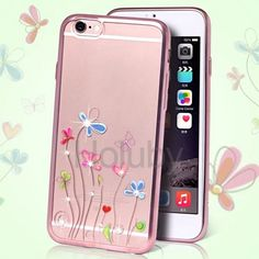 DITA Colored Painting Diamond Studded Electroplated TPU Case for iPhone 6/ 6S - Hyacinth