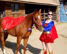 Ciro as Superman and I am Super Woman for Halloween! - Lauren Elizabeth