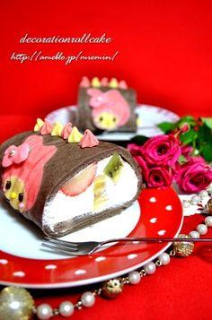 My melody roll cake